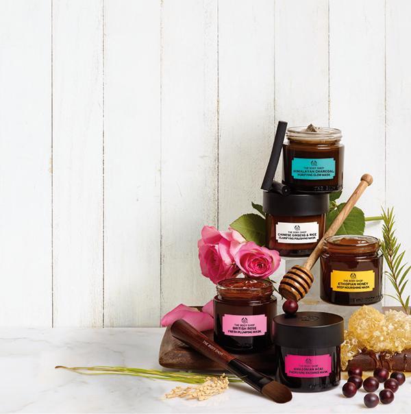 The Body Shop lanserar fem nya ansiktsmasker