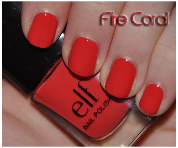 e.l.f. Fire Coral Nail Polish
