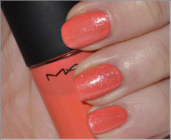 MAC Malibu Peach & Claudia Glistening Snow NOTD