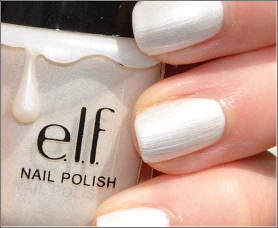 e.l.f. Nail Polish Pearl NOTD