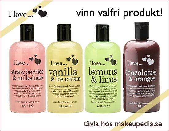 Tävla hos Makeupedia - Vinn valfria produkter från I Love Cosmetics!