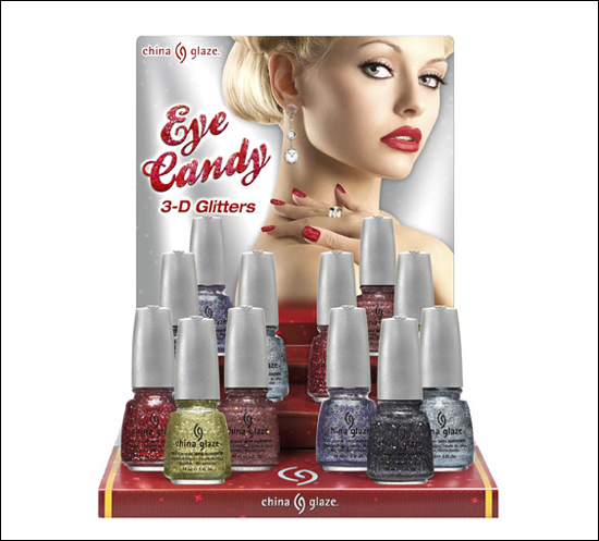 China Glaze Eye Candy 3-D Glitters