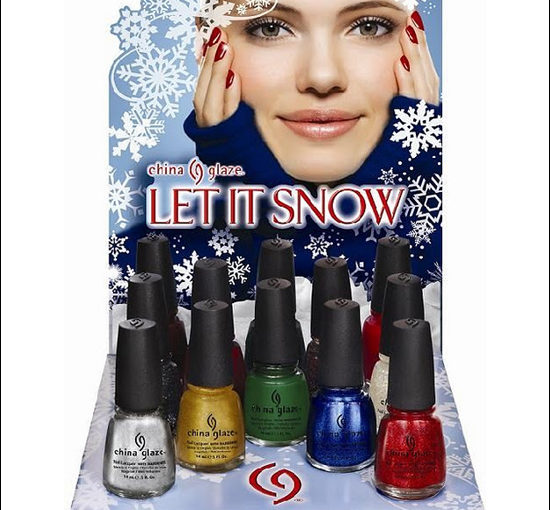 China Glaze Let It Snow & Eye Candy 3-D Glitters Holiday Collections 2011