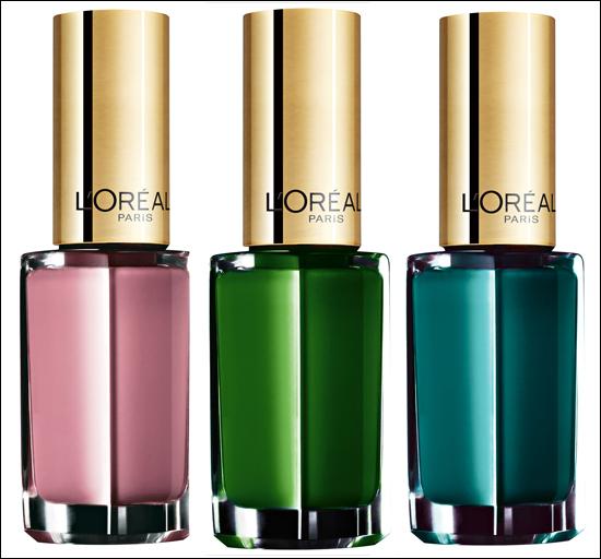 L'Oréal Color Riche Le Vernis 204 Boudoir Rose, 612 Green Couture, 613 Blue Reef