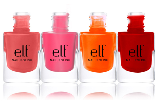 e.l.f. Nail Polish Coral Dream, Flirty Fuchsia, Party Peach, Smokin Hot