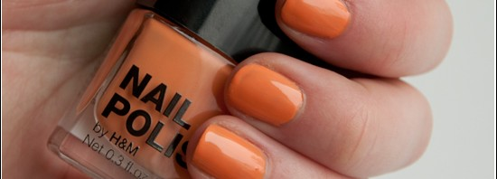 H&M Peach Me Soon Nail Polish Swatches & Bilder