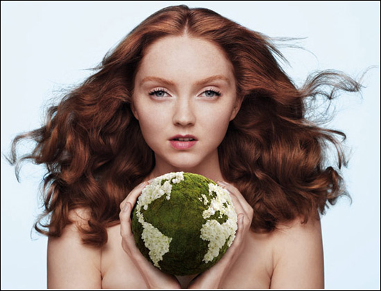 The Body Shop The Beauty With Heart Campaign Lily Cole Limited Edition