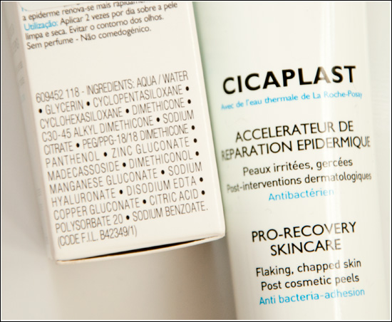 Cicaplast Ingredients