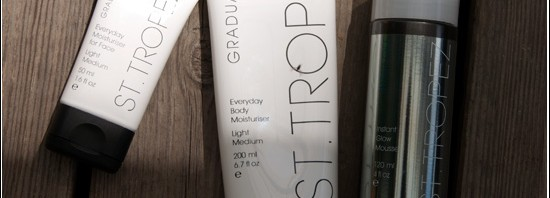 St. Tropez Everyday Gradual Tan Body & Face, St. Tropez Wash Off Instant Glow Mousse