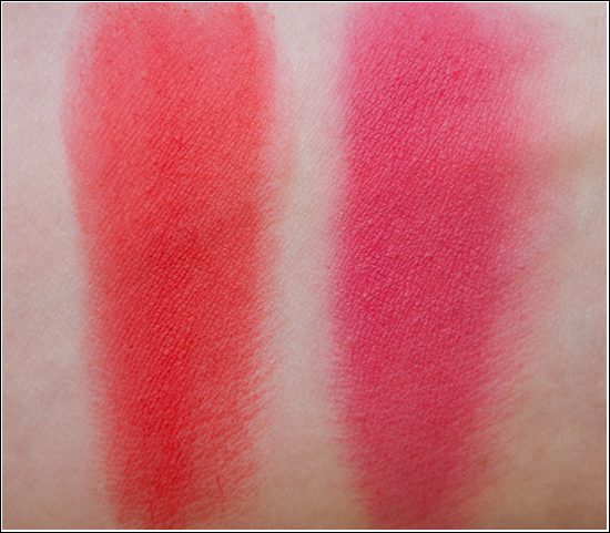 La Femme Cosmetics Blush On Rouge Coral & Pink Swatches