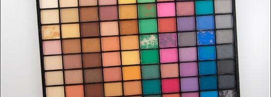 e.l.f. 100 Piece Marble Eyeshadow Palette Swatches, Bilder