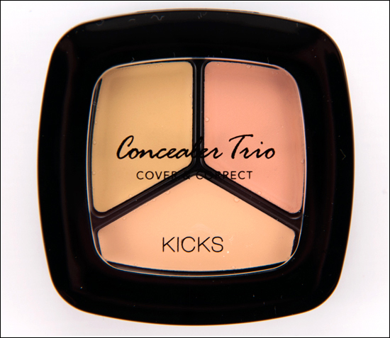 KICKS CONCEALER TRIO COVER & CORRECT RECENSION, SWATCHES, BILDER