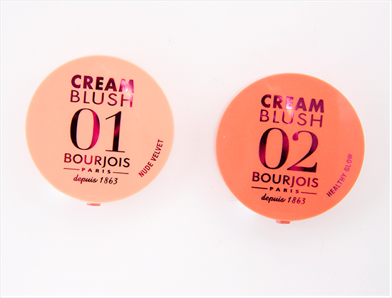 Bourjois Cream Blushes Nude Velvet and Healthy Glow