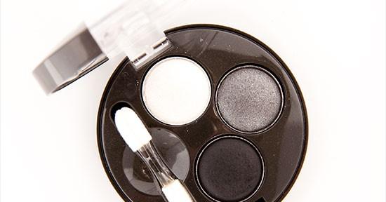 Bourjois Gris Party (16) Eyeshadow Trio Recension, Swatches, Bilder