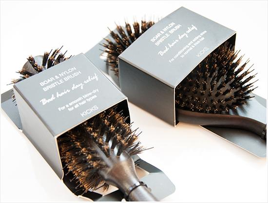 KICKS Boar Nylon Bristle Brushes