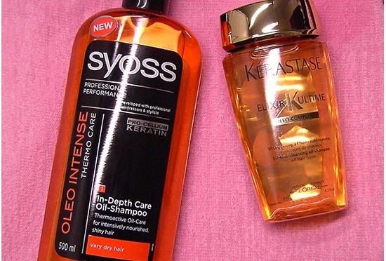Kérastase Elixir Ultime & Syoss Oleo Intense Shampoo