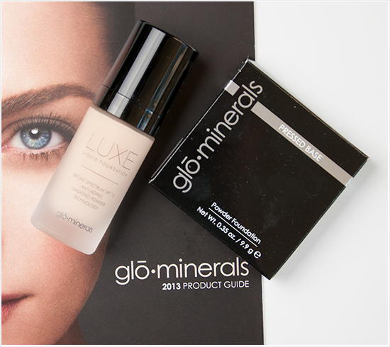 glominerals luxe foundation pressed base