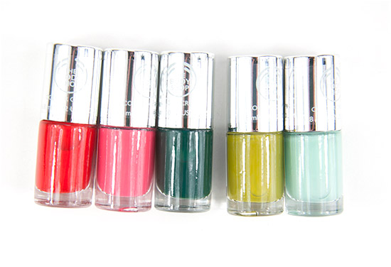 The Body Shop Color Crush Nails Bottles