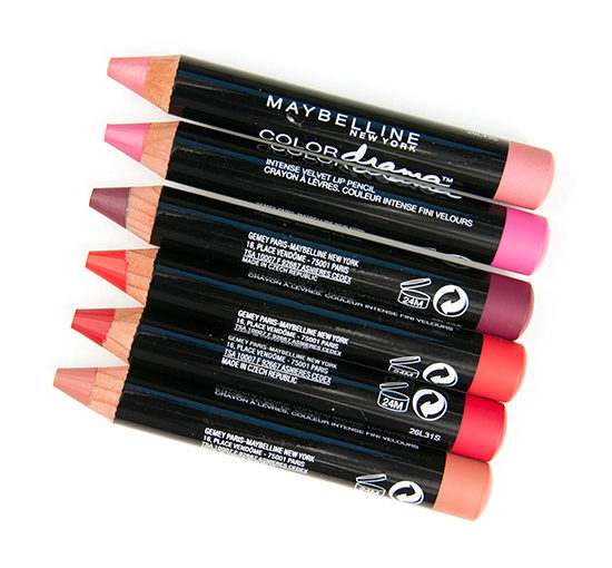Maybelline Color Drama Intense Velvet Lip Pencil Swatches