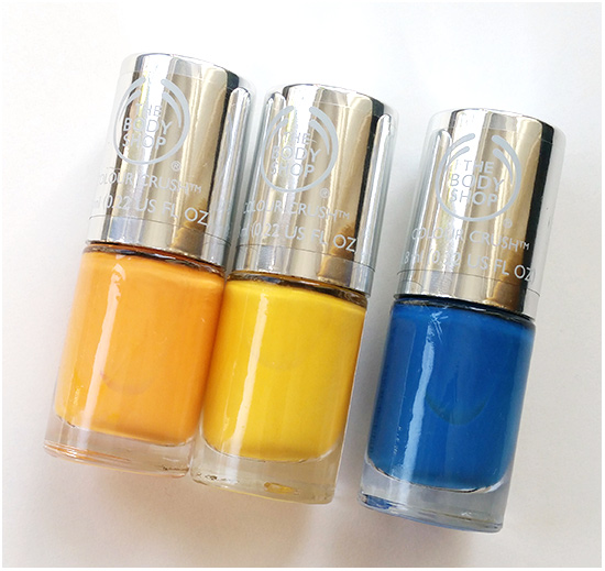 The Body Shop Apricot Kiss, A Sunny Affair & Mad About Blue
