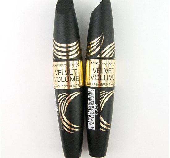 Max Factor Velvet Volume False Lash Effect Mascara Recension, Swatches, Bilder