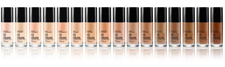 The Body Shop lanserar Fresh Nude Foundation