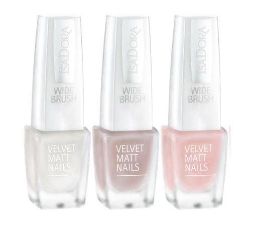 IsaDora-826-White-Velvet-827-Bohemian-828-Vintage-Blush-Velvet-Matt-Nails