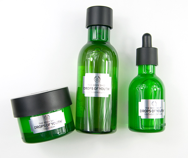 The Body Shop Drops Of Youth Essence Lotion, Concentrate & Day Cream Recensioner