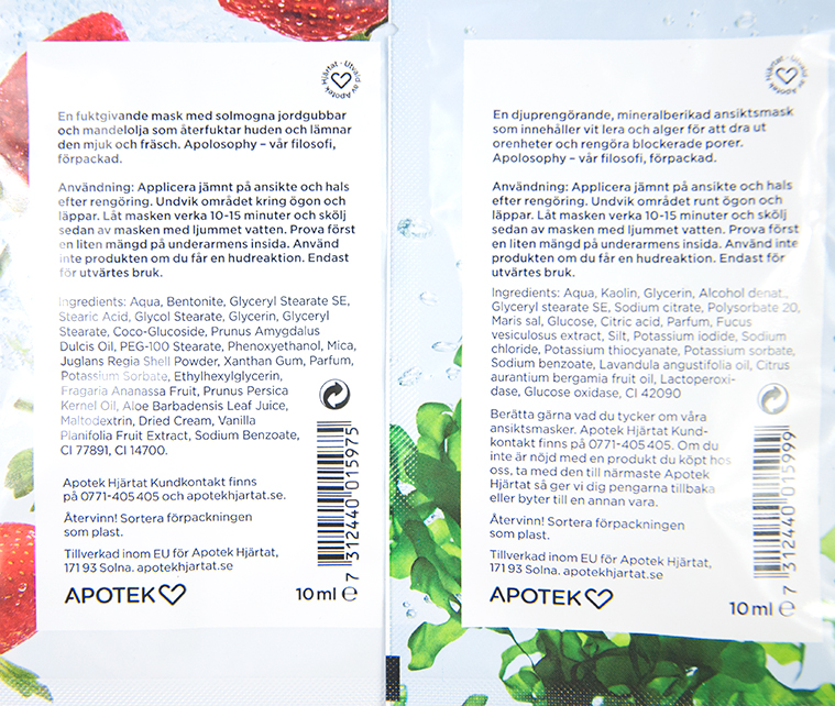 Apolosophy Strawberry Souffle Mask Dead Sea Mineral Mask Ingredienser