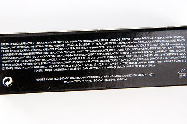 Hm Cream Colour Lipstick Powder Puff Ingredients