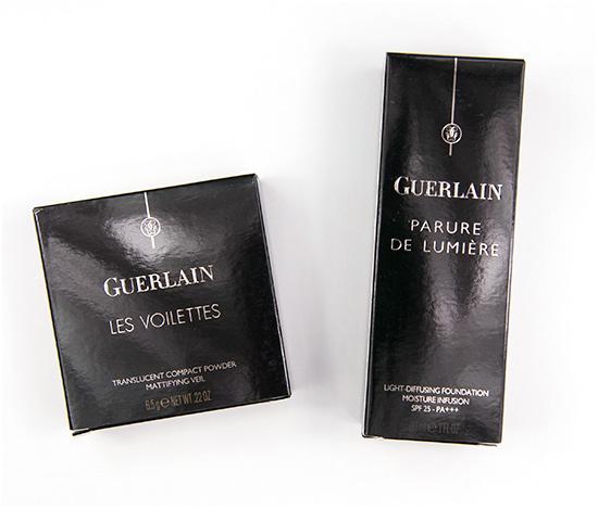 Guerlain Parure de Lumiere Foundation & Les Voilettes Translucent Powder