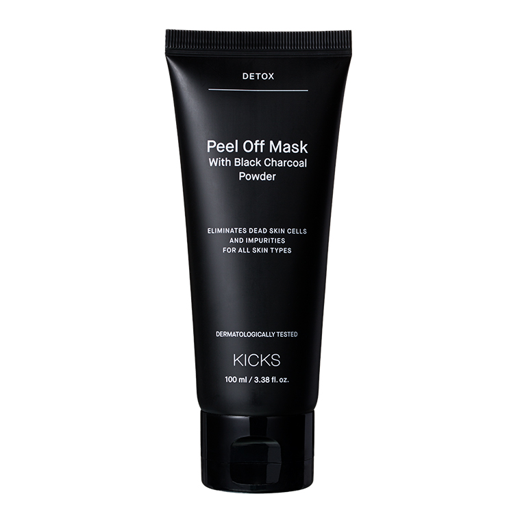 KICKS Beauty Peel Off Mask with Black Charcoal