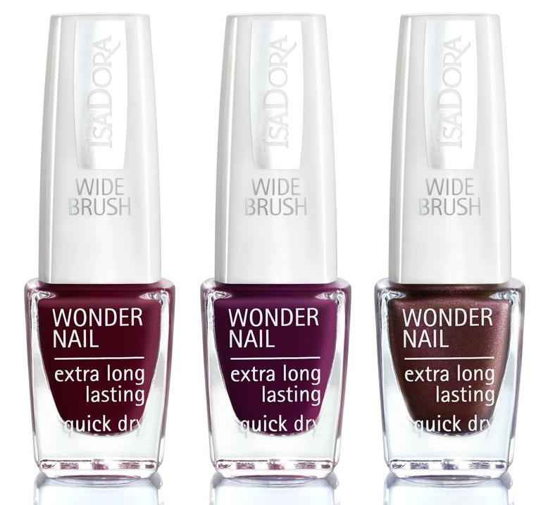 IsaDora Wonder Nail 418 Urban Red 419 Uptown Purple 420 Underground Metropolitan Autumn Makeup 2019
