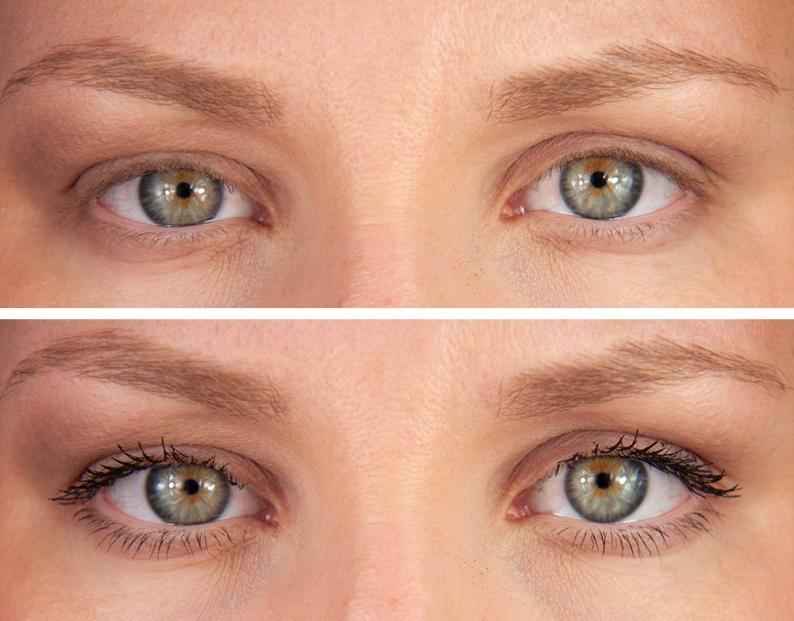 Lancôme Grandiose Mascara Before/After Före/Efter Bilder