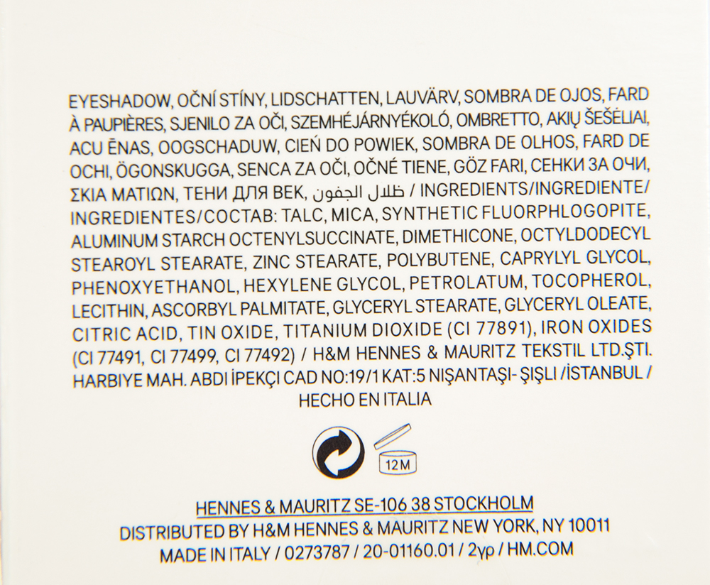 H&M Amazing Greige Eye Colour