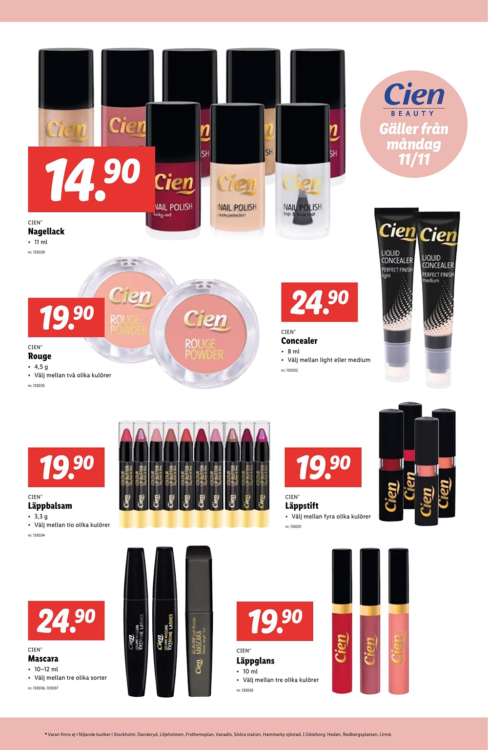 Cien Cosmetics Fall Autumn 2019