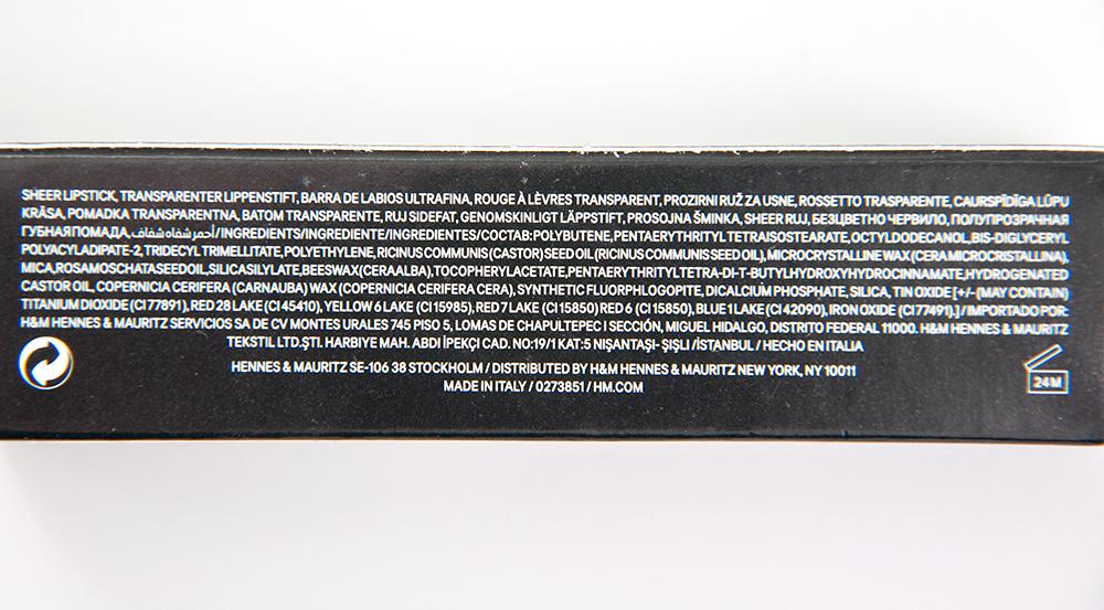 H&M Sheer Lip Colour