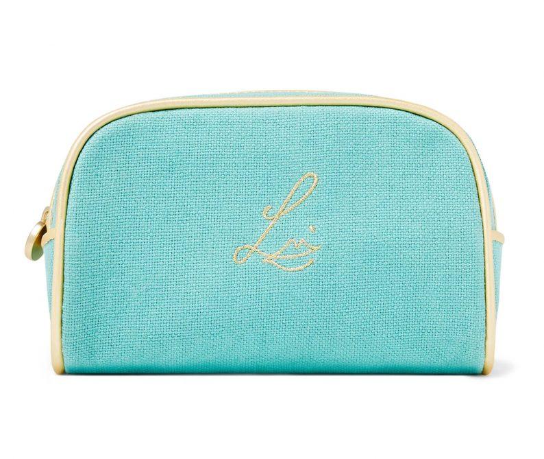 Lisa Eldridge Summer Linen Pouch Holly Golightly Tiffany Blue