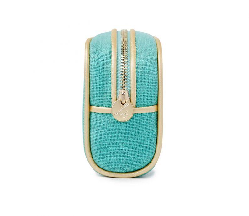 Lisa Eldridge Summer Linen Pouch Holly Golightly Tiffany Blue001