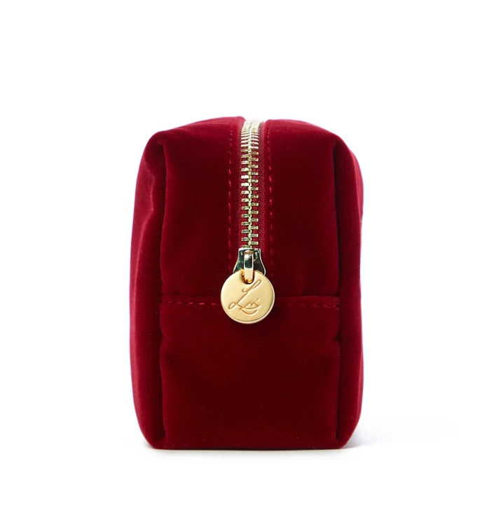 Lisa Eldridge Velvet Cherry Pouch