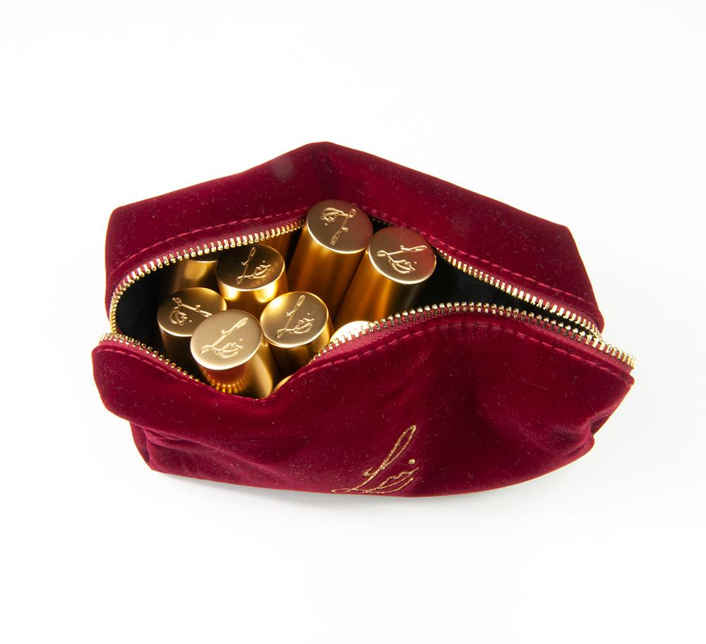 Lisa Eldridge Plush Velvet Lipsticks Red Pouch