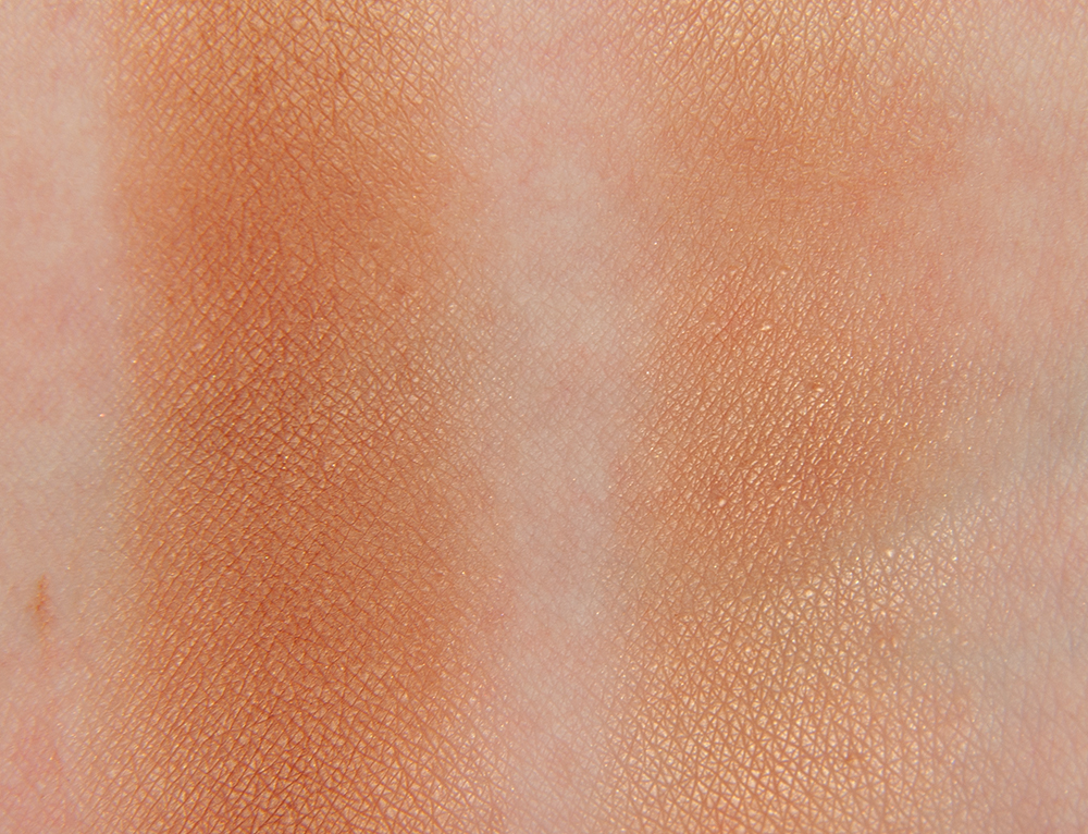 Cien Almond Shimmer Bronzing Powder Swatches