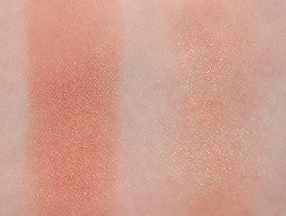 Cien Swatches Rouge Powder Nectarine