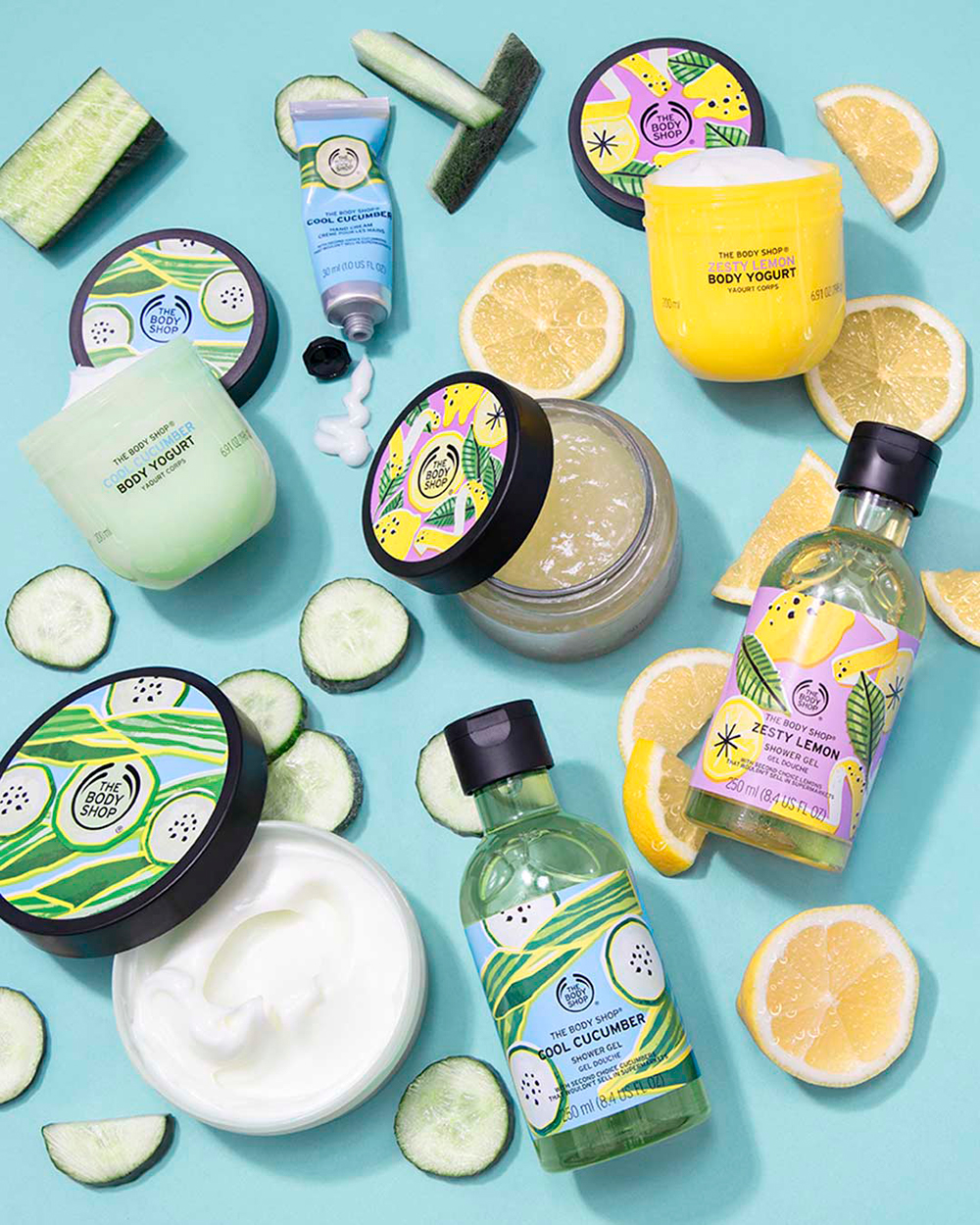 The Body Shop Zesty Lemon och Cool Cucumber