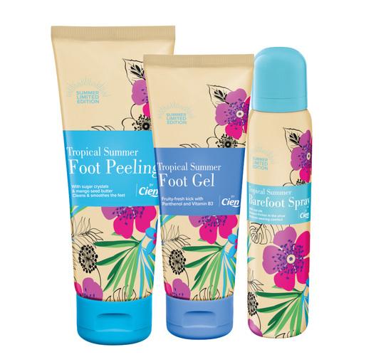 Cien Foot Gel Barefoot Spray Foot Peeling