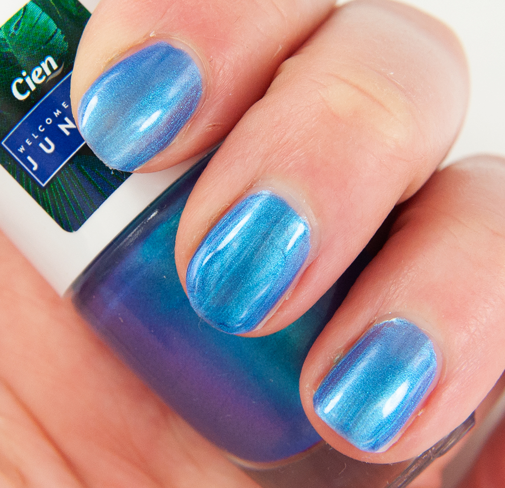 Cien Blue Rainbow (05) Nail Polish Swatches
