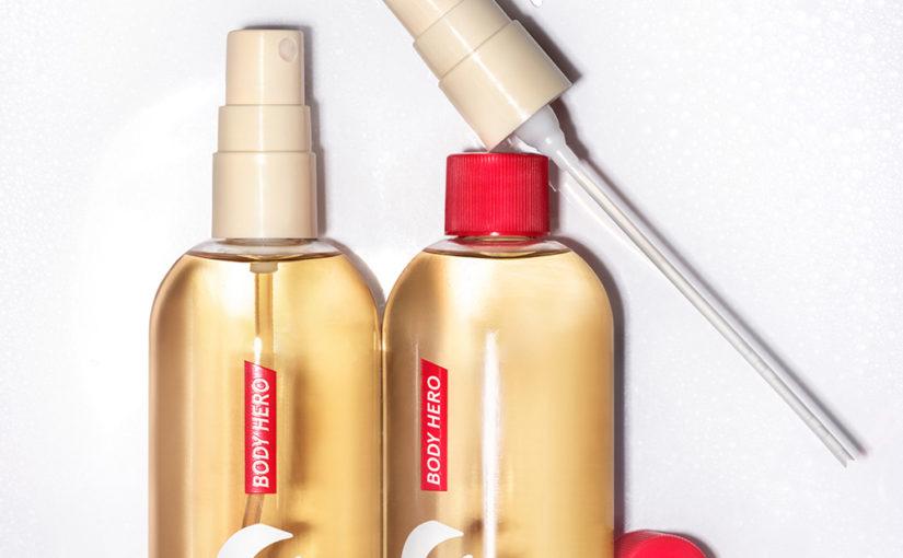 Nyhet! Glossier Body Hero Exfoliating Bar och Body Hero Dry-Touch Oil Mist