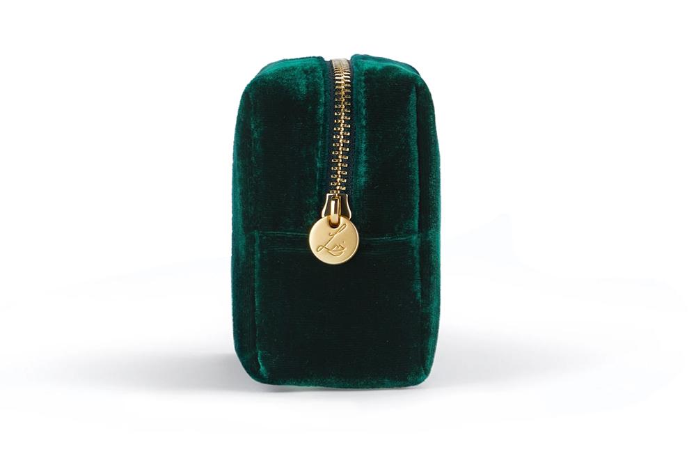 Lisa Eldridge Deep Emerald Velvet Pouch