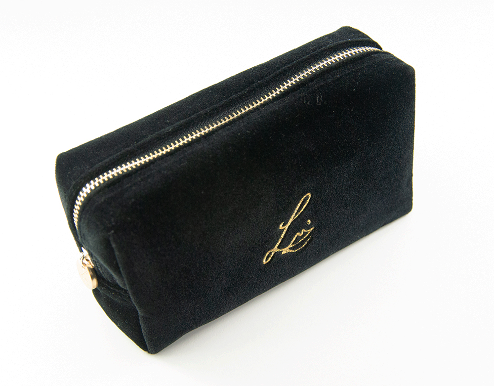 Lisa Eldridge Black Velvet Makeup Bag