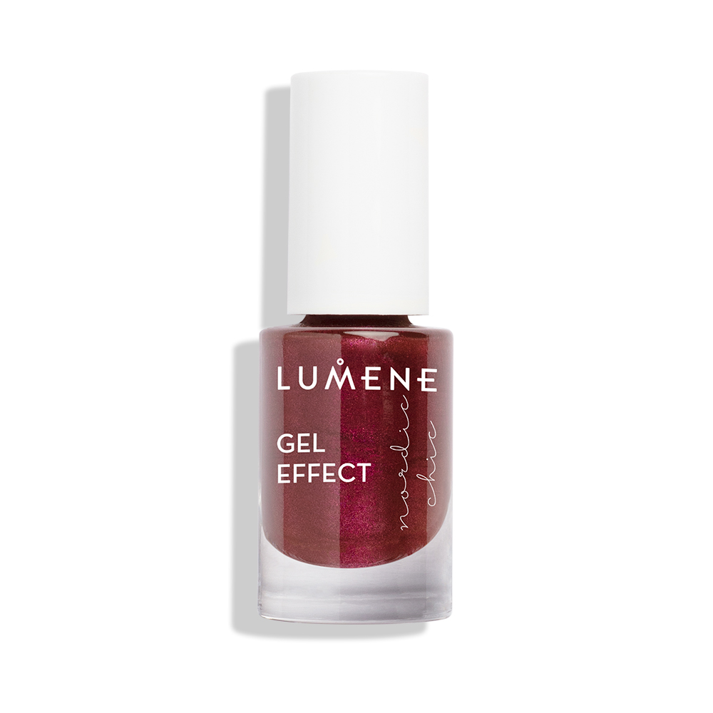 Lumene Nordic Chic Nail Polish Gel Effect 73 Berry Sparkle